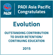 padi diver retention education award