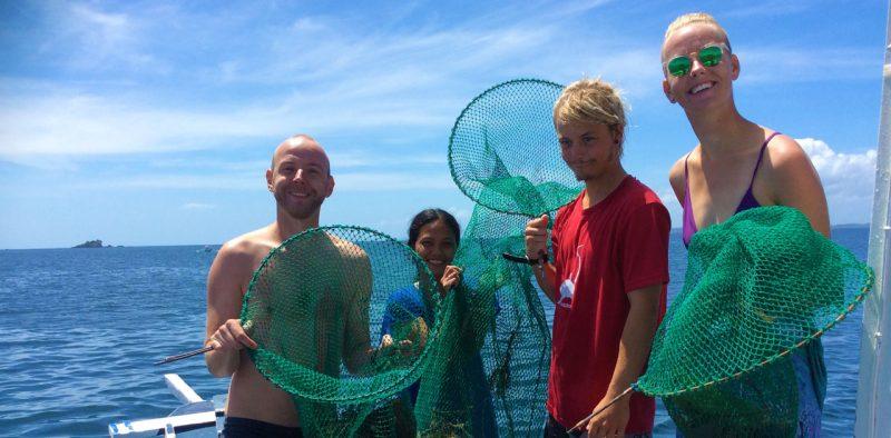 ocean clean up malapascua