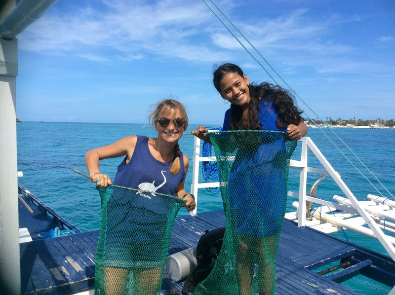 ocean clean up malapascua philippines