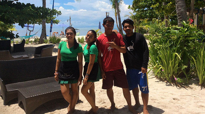 evolution diving resort staff malapascua island