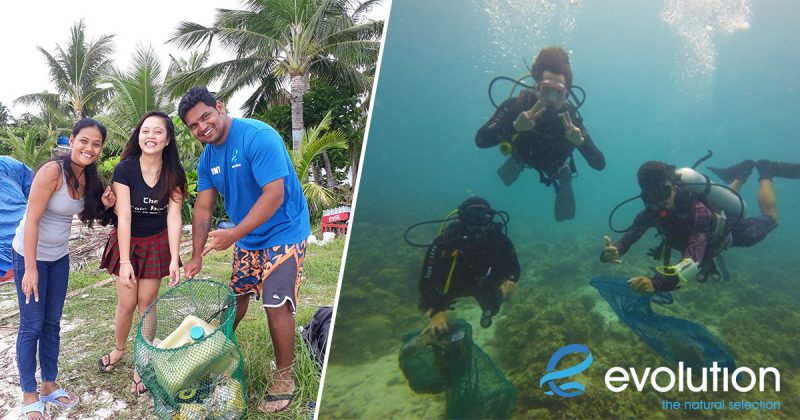world ocean day 2017 ocean beach cleanup malapascua philippines