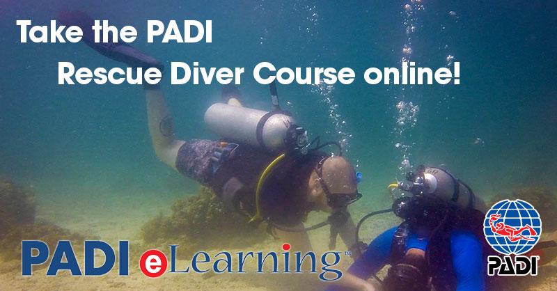 padi rescue diver elearning course