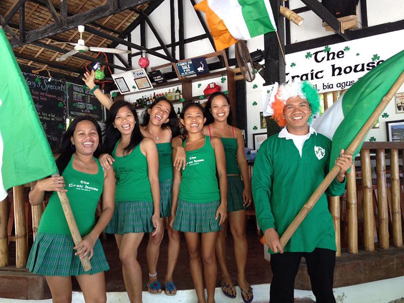 the craic house staff evolution dive resort malascua
