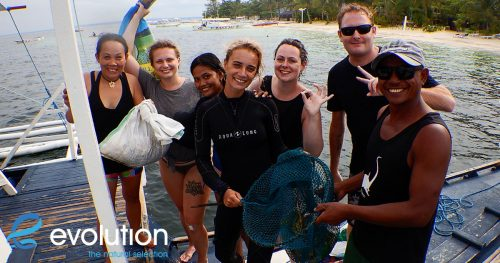 world ocean day reef clean evolution diving resort malapascua