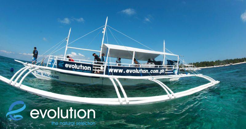 evolution dive resort philippines dive boat haldane