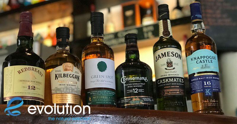 evolution diving resort irish whiskey