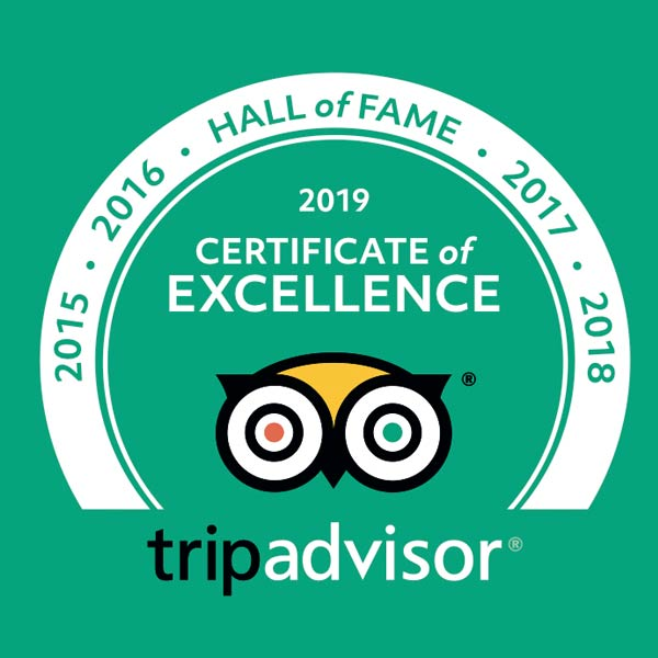 tripadvisor certifcate of excellence 2019