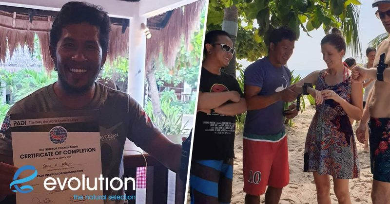 evolution diving resort new diving instructor